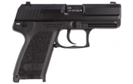 "H&K 709031A5 USP9C V1 *CA Compliant* DA/SA 9mm 3.58"" 10+1 2 Mags 3-Dot Decocker Black Interchangeable Backstrap Grip Blued"