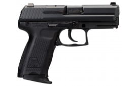 "HK 709203-A5 P2000 V3 *CA/MA Compliant* DA/SA 9mm 3.66"" 10+1 2 Mags 3-Dot Decocker Black Interchangeable Backstrap Grip Blued"