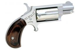 "NAA 22MS 22 Magnum Rosewood Grip Single 22 WMR 1.1"" 5 Rosewood Black"
