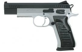 "EAA 600660 Witness Elite Match 9mm 4.75"" 17+1 Black Poly Grip SS Frame Black Slide"