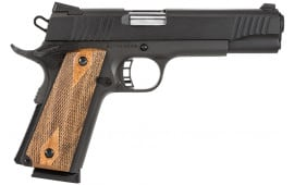 "Citadel CIT45FSP M-1911 Full Size SAO 45 ACP 5"" 8+1 Wood Grip Black"