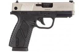 "Bersa BP9DTCC BPCC Concealed Carry DAO 9mm 3.3"" 8+1 Black Poly Frame Nickel Slide"