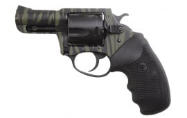 "Charter Arms 24420 Bulldog 44 Special 2.5"" 5rd Black Rbber Grip Black/Green Tiger SS"