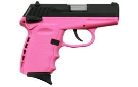 SCCY CPX-1 CBPK 9mm Polymer Frame Pistol, w/ Safety, Blued Slide on Pink, DAO 10+1 w/ 2 Mags