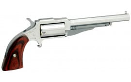 "NAA 18604C 1860 The Earl 4"" with 22 LR Cylinder Single 22 WMR 4"" 5 Wood Black"