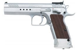 "EAA 600340 Witness Elite Limited 45 ACP 4.75"" 10+1 Wood Grip Chrome Finish"