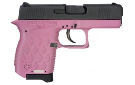 "Diamondback DB9HP Micro-Compact DAO 9mm 3"" 6+1 Pink Poly Grip/Frame Black Slide"