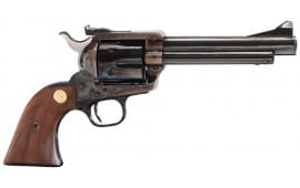 """Colt P4750 Single Action Army New Frontier Single 44 Special 5.5"""" 6 Walnut w/Gold Screws & Medallion Blued"""
