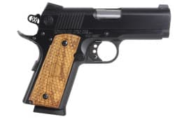 "American Classic ACA45B 1911 Amigo 45 ACP 3.5"" 7+1 Hardwood Grip Blued"