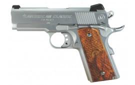 "American Classic ACA45C 1911 Amigo 45 ACP 3.5"" 7+1 Hardwood Grip Hard Chrome"