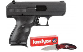"Hi-Point 916HCKNIFE 9mm Compact Double Luger 3.5"" 8+1 Black Polymer Grip Black with Hard Case and Knife"