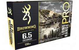 Browning Ammo B192500651 6.5 Creedmoor 130 MTH LR PRO - 20rd Box