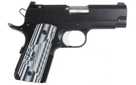 "Dan Wesson 01969 DW ECO 45 ACP 3.5"" 7+1 Black/Gray G10 Grip Black"