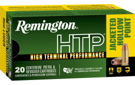 Remington 28295 RTP9MM8A HTP 9mm 147 Jacketed Hollow Point - 20rd Box