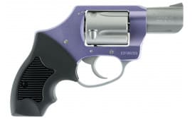 "Charter Arms 53841 Undercover Lite Lavender Lady DAO Double 38 Special 2"" 5 Black Rubber Stainless"