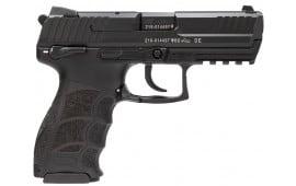 "HK M734003SA5 P30S V3 DA/SA 40 S&W 3.85"" 13+1 Black Interchangeable Backstrap Grip Black"