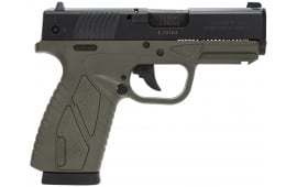 "Bersa BP9ODCC BPCC Concealed Carry Double 9mm Luger 3.3"" 8+1 OD Green Polymer Grip/Frame Grip Black"