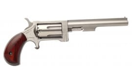 "NAA NAASWC4 22 Magnum Sidewinder with 22LR Cylinder Single 22 WMR 4"" 5 Rosewood Stainless"