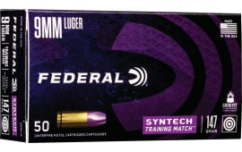 Federal AE9SJ3 9mm 147 TRNMT - 50rd Box