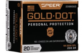 Speer 23980GD Gold Dot 44SPC 200 HP - 20rd Box