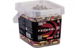 Federal AE9SJ2B500 9mm 124 Synthetic - 500rd Box