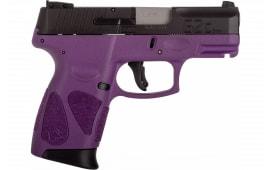 Taurus 1-G2C931-12DP G2C 12rd3-DOT ADJ. DRK Purple Frame Black Slde
