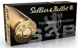 Sellier & Bellot SB45C 45 ACP 230 Jacketed Hollow Point - 50rd Box