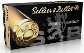 Sellier & Bellot SB40C 40 S&W 180 Jacketed Hollow Point - 50rd Box