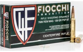 Fiocchi 7RMA 7MMMG 139 PSP - 20rd Box