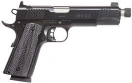 "Remington Firearms 96339 1911 R1 Enhanced Single 45 ACP 5.5"" TB 8+1 Laminate Black Grip Black"