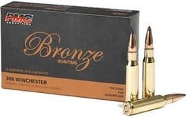PMC 308SP Case, 308 WIN 150 Grain, Soft Point, Brass, Boxer, Reloadable - 20 Rds / Box - 800 Round Case