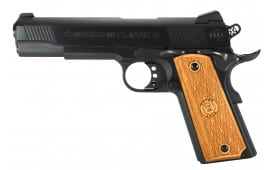 "American Classic AC9G2 1911 Classic II Single 9mm Luger 5"" 9+1 Hardwood Grip Blued"