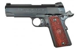 "American Classic ACC9B 1911 Commander Single 9mm Luger 4.25"" 9+1 Hardwood w/MAC Logo Grip Blued"