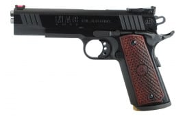 "MAC M19CL45B 1911 Classic SAO 45 ACP 5"" 8+1 Hardwood w/Logo Blued"
