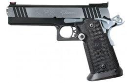 "SPS SPP45BC Pantera SAO 45 ACP 5"" 12+1 Black Poly Grip Black Frame Black/Chrome Slide"