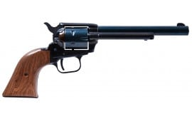"""Heritage Mfg R22MB6BX Rough Rider Small Bore Single 22 LR 6.5"""" 6 Cocobolo Blued"""
