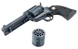 """Chiappa Firearms CF340170D 1873 Single Action Army Single 22 LR 7.5"""" 10 Black Synthetic Black with 22WMR Cylinder"""