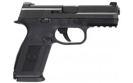 """FN 66756 FNS9 No Manual Safety Fxd 3 Dot 9mm 4"""" 10+1 3 Mags Black Poly/Black"""