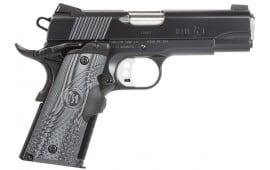 """Remington Firearms 96356 1911 R1 Commander Carry Single 45 ACP 4.25"""" 7+1 Black G10 w/Crimson Trace Laser Grip Black Carbon Steel"""