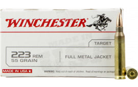 Winchester Ammo USA223R1 Best Value 223 Remington/5.56 NATO 55 GR Full Metal Jacket - 20rd Box