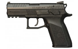 """CZ 91087 P-07 Compact 40 S&W 3.8"""" 12+1 Stippled Grips Black Nitrate Slide"""