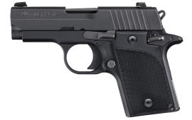 "Sig 9389BSSAMBI P938 Nitron SAO 9mm 2.7"" 6+1 NS Black Polymer Grip Black"