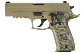 """Sig 226R9SCPNCA P226 Scorpion *CA Compliant* 9mm 7.7"""" 10+1 Hogue G10 Piranha FDE"""