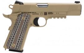 "Colt O1070M45 Marine CQBP M45-A1 SA 45 ACP 5"" 7+1 Novak 3Dot Desert Tan G10 Grips Brown Decobond"