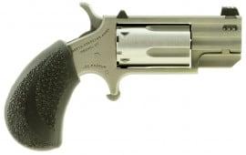 "NAA PUGTP Magnum Pug Tritium Sight Ported Single 22 WMR 1"" 5 Black Polymer Stainless"