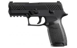 "Sig Sauer 320CA9B P320 Carry Double 9mm Luger 3.9"" 17+1 Black Interchangeable Backstrap Grip Nitron"