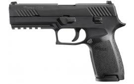 "Sig Sauer 320F45B P320 Full Size Double 45 ACP 4.7"" 10+1 CS Black Polymer Grip/Frame Grip Black Nitron Stainless Steel"