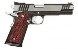 "MAC M19CL45BC 1911 Classic SAO 45 ACP 5"" 8+1 Hardwood w/Logo Black Chrome"