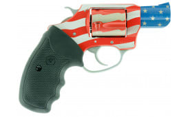 "Charter Arms 23872 The Old Glory Undercover Singl/Double Actione 38 Special 2"" 5 Black Rubber American Flag"