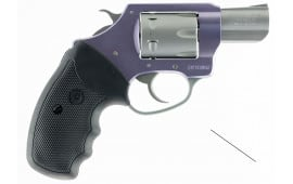 "Charter Arms 52340 Pathfinder Lite Lavender Single 22 WMR 2"" 6 Black Rubber Grip Lavender Aluminum Frame Stainless"
